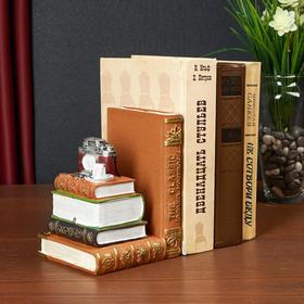 Держатель для книг интерьерный 'Книги и фотоаппарат' МИКС 16х12х11,5 см Ош