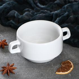 Чашка для бульона 'Рест', 320 мл, белая, 1 сорт Ош