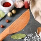 Нож деревянный, для масла, 20 см, массив дуба - Фото 3