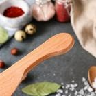 Нож деревянный, для масла, 20 см, массив дуба - Фото 4
