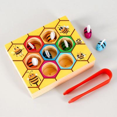 Развивающая игра «Достань и положи пчёлку» 4,5х14,5х20 см - Фото 1
