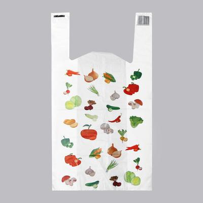 """Пакет """"Овощи"""", полиэтиленовый майка, 30 х 60 см, 22 мкм"""