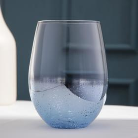 Стакан «Мерцание», 400 мл, цвет синий