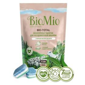 Таблетки для посудомоечных машин BioMio BIO-TOTAL, с маслом эвкалипта, 12 шт.