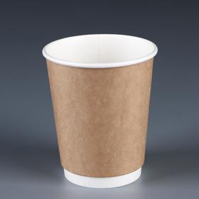 """Стакан """"Крафт"""" двухслойный, для горячих напитков, 250 мл, диаметр 80 мм"""