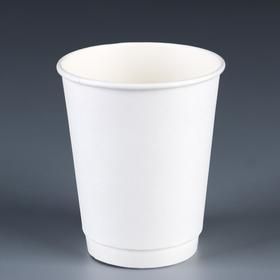 "Стакан ""Белый"" двухслойный, термослой, 250 мл, диаметр 80 мм"