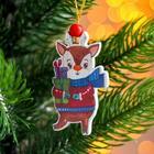 Подвеска новогодняя деревянная «Новогодние животные» 0,5?5,5?7,5 см