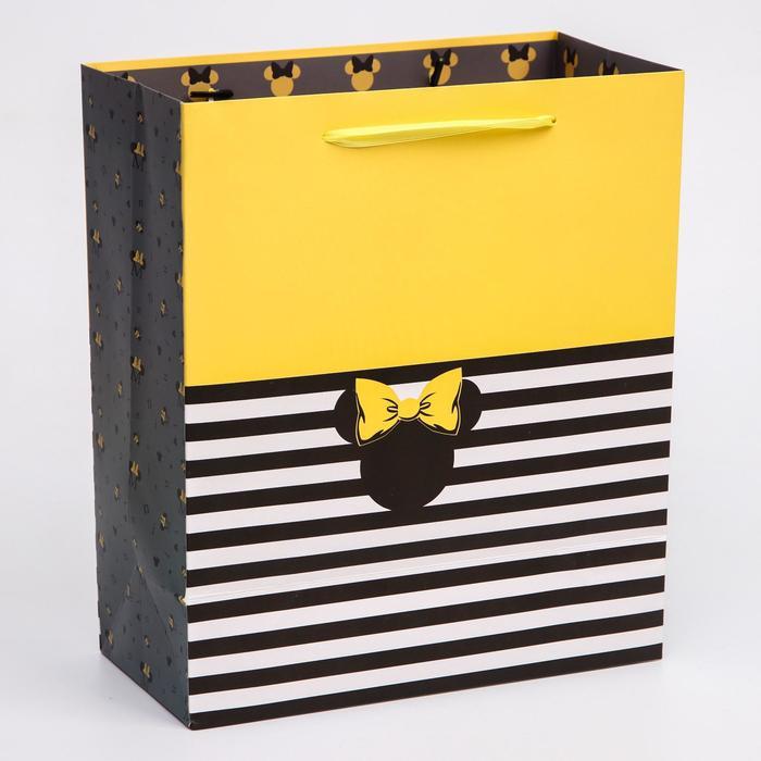 Пакет ламинат вертикальный Минни, Минни Маус, 23х27х11,5 см