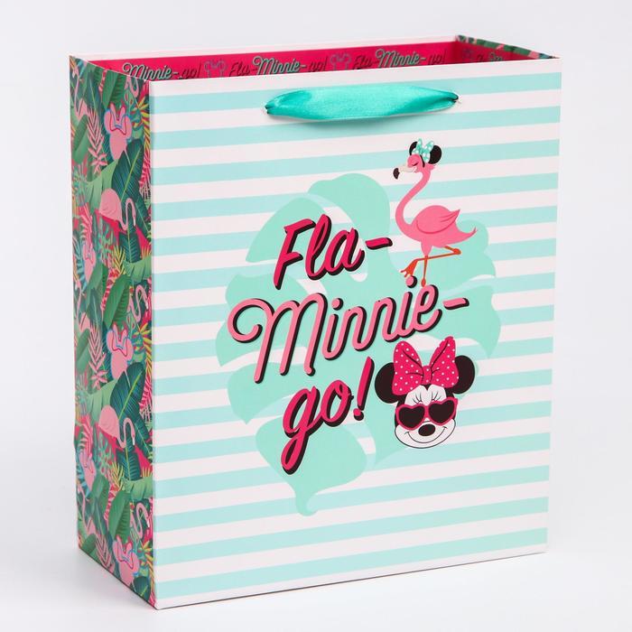 Пакет ламинат вертикальный Fla-Minnie-go, Минни Маус, 23х27х11,5 см