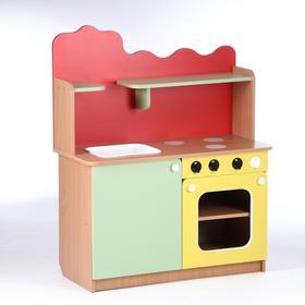 Кухня детская 950х420х1160, ЛДСП, корпус - бук, фасады - цветные Ош