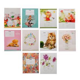 Тетрадь 12 листов в линейку «Для девочек», обложка мелованный картон, блок офсет, МИКС