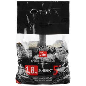 Древесноугольные брикеты Grifon, 1,8 кг, в п/э пакете Ош