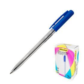 Ручка шариковая автомат Silwerhof FIX (026203-02) однораз, узел 0.7мм, чернила синие