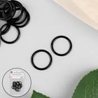 Кольцо для бретелей, 15 мм, цвет чёрный