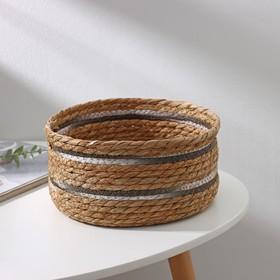 Корзина для хранения плетёная Доляна «Миа», 23×23×11 см