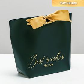 Пакет подарочный Best wishes, 21 х 17 х 7 см Ош