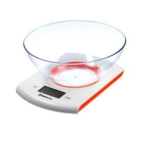 Весы кухонные Sakura SA-6068A, до 7 кг, от 2хААА, бело-оранжевые