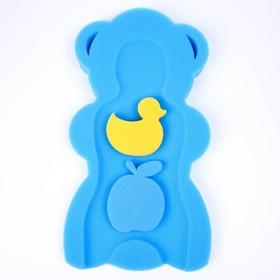 """Подкладка для купания макси """"Мишка"""", цвет синий"""