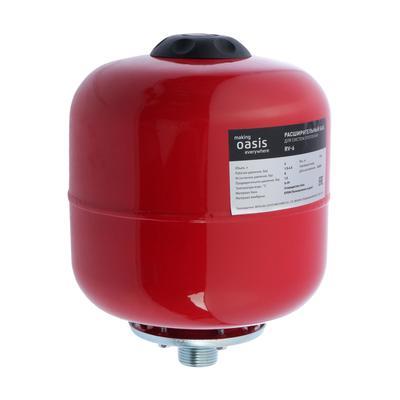 Бак расширительный Oasis RV-6, для систем отопления, вертикальный, 6 л - Фото 1