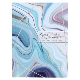 Бизнес-блокнот А6, 80 листов «Каменный узор», твёрдая обложка, глянцевая ламинация