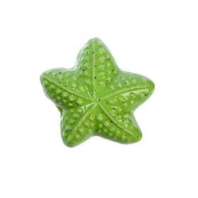 """Ручка керамическая для мебели BLUMEN HAUS """"Морская звезда"""", зеленый"""