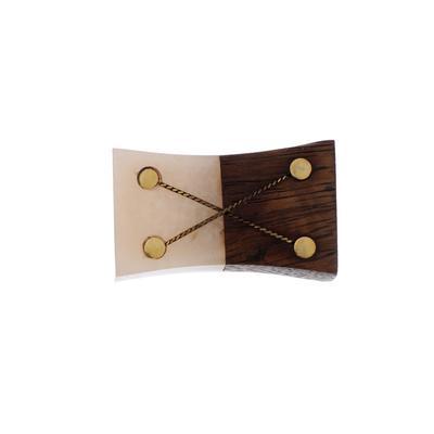 """Ручка для мебели BLUMEN HAUS """"Домино"""", коричневый, бежевый - Фото 1"""