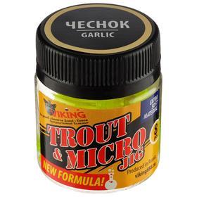 Силиконовая приманка VIKING «Личинка» 50 мм, цвет лимонный флуоресцентный, жареный чеснок