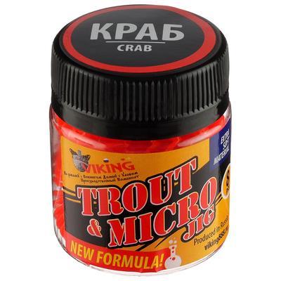 Силиконовая приманка VIKING «Личинка» 63 мм, цвет красный флуоресцентный, краб