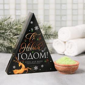 """Соль в треугольной коробке """"С Новым годом"""" 150 г"""