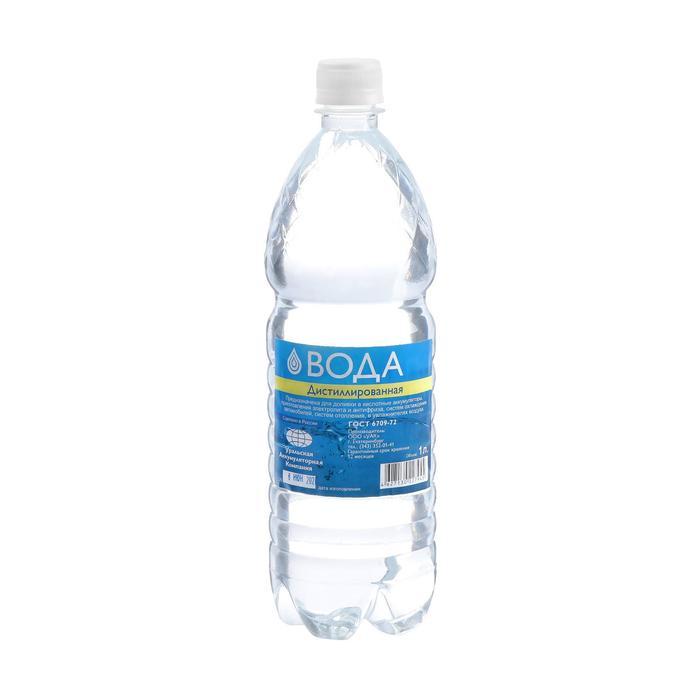 Вода дистиллированная УАК, 1 л