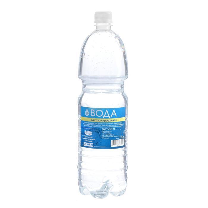 Вода дистиллированная УАК, 1,5 л