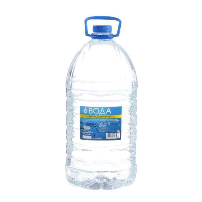 Вода дистиллированная УАК, 5 л