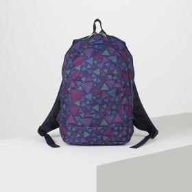 Рюкзак школьный, 2 отдела на молниях, цвет синий/фиолетовый