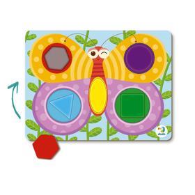 Пазл-сортер 5 элементов «Бабочка»