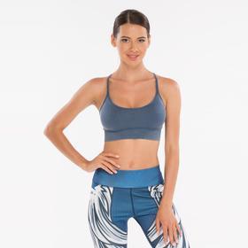 Топ-бра женский, спортивный, цвет синий джинс, размер 40-42 (S)