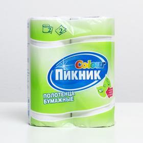 """Полотенца бумажные """"Пикник"""", 2 слоя, 2 рулона"""