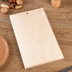 Доска разделочная, береза, прямоугольная 30х18х1,9 см