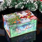 """Коробка подарочная новогодняя """"С новым годом"""", закрывающаяся, 16×11.5×23 см - Фото 1"""