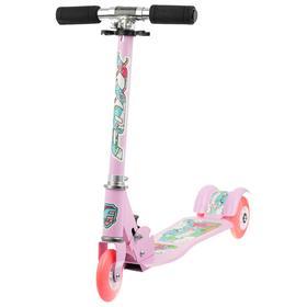 Самокат Foxx Fairy Tale, сталь, колёса PU 100 мм, ABEC-7, цвет розовый Ош