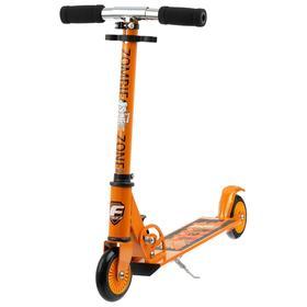 Самокат Foxx Zomby Zone, алюминий/сталь, колёса PU 100 мм, ABEC-7, цвет оранжевый Ош