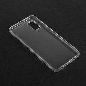 Чехол Qumann, для Samsung (A415) Galaxy A41, силиконовый, прозрачный