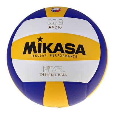 Мяч волейбольный Mikasa MV210, размер 5, PU, бутиловая камера, клееный - Фото 1