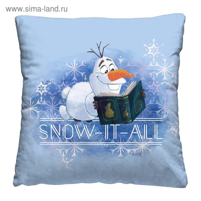 Подушка Olaf snow, размер 40 × 40 см