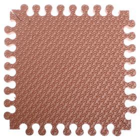Детский коврик-пазл «Треугольник» 33х33 см, толщина 18 мм (кофе с молоком), термо плёнка