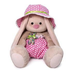 Мягкая игрушка «Зайка Ми», в шляпе с мишкой, 18 см