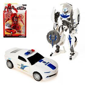 Робот-трансформер «Полицейский», цвет белый