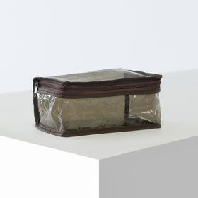 Косметичка ПВХ, отдел на молнии, цвет коричневый Ош