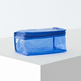 Косметичка ПВХ, отдел на молнии, цвет синий Ош