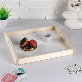 Поднос деревянный 'Дачный', светлый, МАССИВ, 35×40×6,5 см Ош