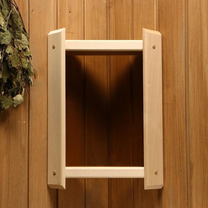 Абажур деревянный, темное стекло
